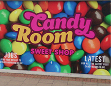 Candy room sweetshop poster