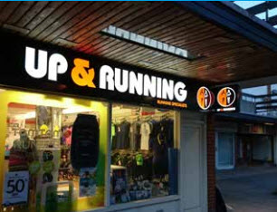 Up and running shop front