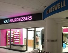 Your hairdressers shop illuminated